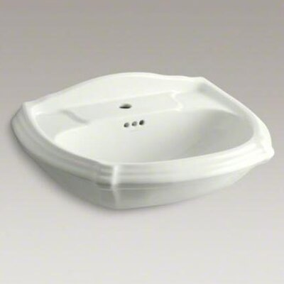 Portrait Pedestal Lavatory Basin with Single-Hole Drilling - 2222-1