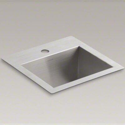 Kohler vault top mount under mount bar sink with single faucet hole
