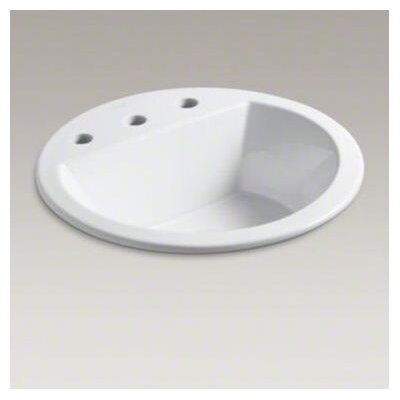 "Kohler Bryant Round Self-Rimming Lavatory with 8"" Centers"