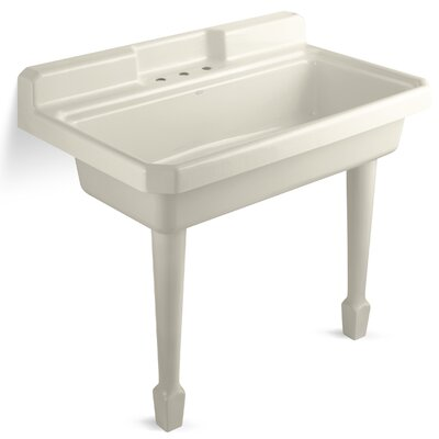Harborview Self-Rimming Or Wall-Mount Utility Sink with Three-Hole Faucet Drilling On Center ...