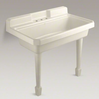Harborview Self-Rimming Or Wall-Mount Utility Sink with Four-Hole Faucet Drilling, Two Holes On ...