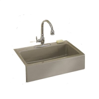 "Kohler Dickinson 33"" x 22.13"" Apron Front Tile-in Kitchen Sink"