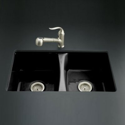 "Kohler Deerfield 33"" x 22"" Undermount Kitchen Sink with 5 Holes Oversized Drilling"