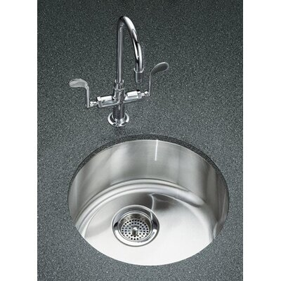 "Kohler Undertone/Lyric 18-3/8"" Diameter X 7-5/8"" Top-Mount/Under-Mount Single Circular Bowl Kitchen Sink"
