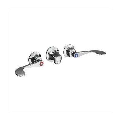 Kohler Triton Shelf-Back Lavatory Faucet with Grid Drain and Wristblade Lever Handles