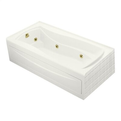 "Kohler Mariposa 72"" X 36"" Alcove Whirlpool Bath with Integral Apron, Tile Flange, Left-Hand Drain and Heater"