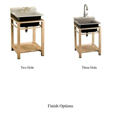 Kohler Bayview Wood Stand Utility Sink with Three-Hole Faucet Drilling ...