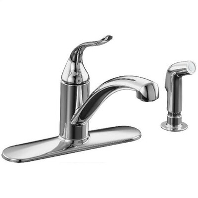 Kohler Coralais Decorator Kitchen Faucet with Escutcheon, Matching Finish Sidespray and Lever Handle