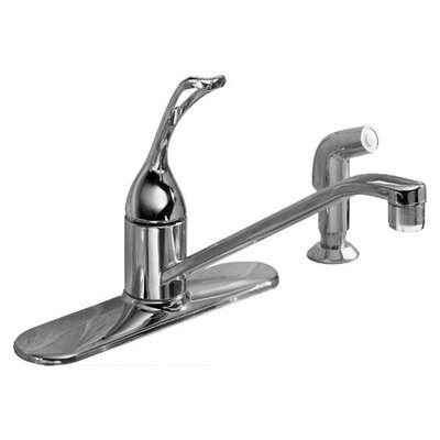 "Kohler Coralais Single-Control Kitchen Faucet with 10"" Spout, Color-Matched Sidespray, Ground Joints and Loop Handle"