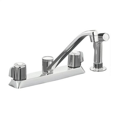 Coralais Double Handle Centerset Kitchen Sink Faucet with Knob Handle