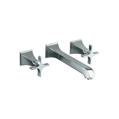 Kohler Memoirs Wall Mounted Bathroom Faucet with Double Cross Handles