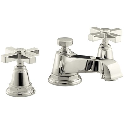 Pinstripe Pure Widespread Lavatory Faucet with Cross Handles - 13132-3A