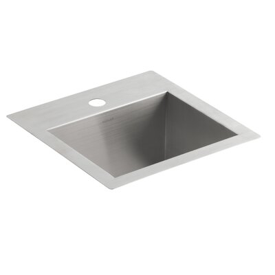 Vault Top-Mount/Under-Mount Bar Sink with Single Faucet Hole