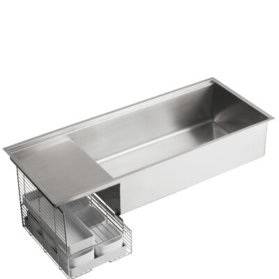... Mount Single-Bowl with Wet Surface Area Kitchen Sink & Reviews