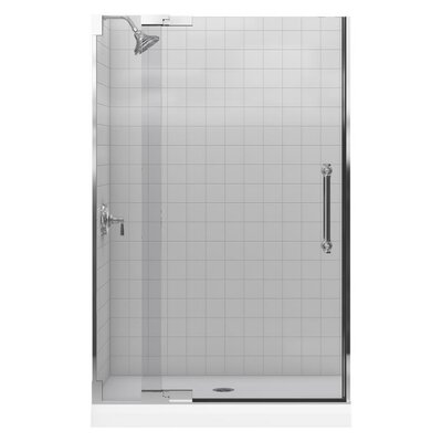 "Kohler Purist Pivot Shower Door, 72-1/4"" H X 45-1/4 - 47-3/4"" W, with 1/2"" Thick Crystal Clear Glass"