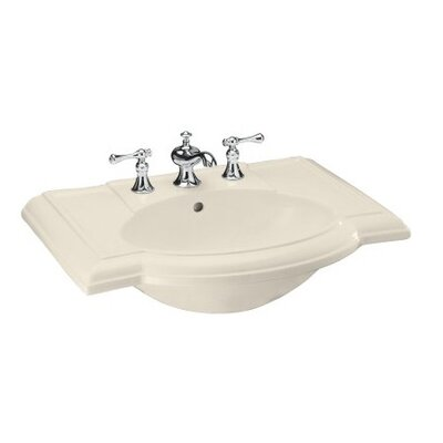 "Kohler 27"" Devonshire Bathroom Sink with Single-Hole Faucet Drilling"