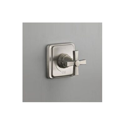 Kohler Pinstripe Pure Volume Control Trim, Cross Handle, Valve Not Included