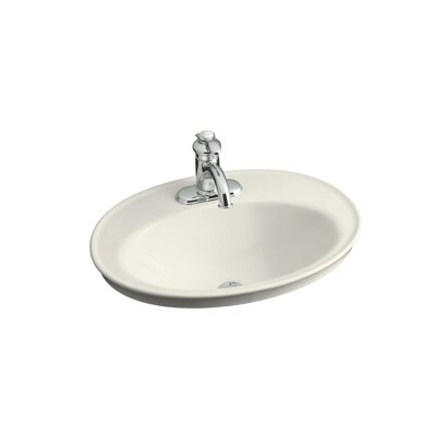 Kohler Serif Self Rimming Bathroom Sink with Single Hole Faucet Drilling