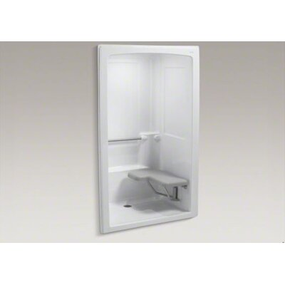 "Kohler Freewill Barrier-Free Shower Module with Seat At Right, 52"" X 38-1/2"" X 84"""