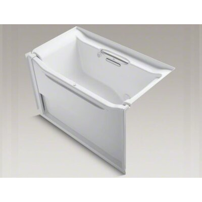 "Kohler Elevance Rising Wall 60"" X 32"" Alcove Bubblemassage Air Bath with Right-Hand Drain"