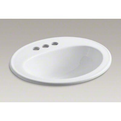 "Kohler Pennington Self-Rimming Lavatory with 4"" Centers and Sealed Overflow"