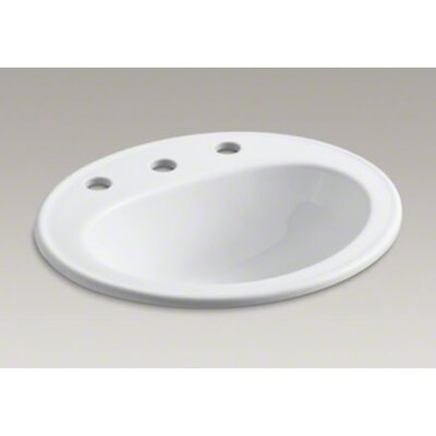 "Kohler Pennington Self-Rimming Lavatory with 8"" Centers and Sealed Overflow"