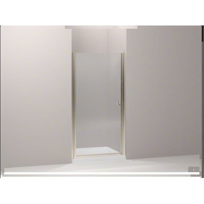"Kohler Fluence Frameless PIVot Shower Door with Falling Lines Glass, 36.25"" - 37.75"" x 65.5"""