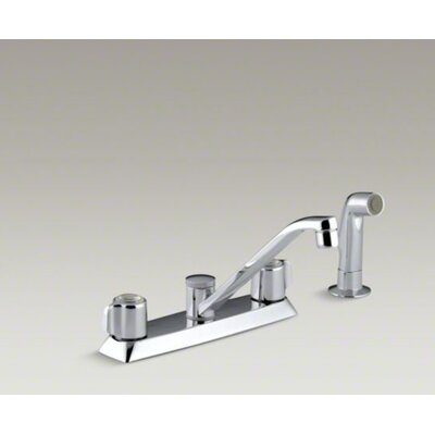 Coralais Kitchen Sink Faucet with Blade Handles, 7.63