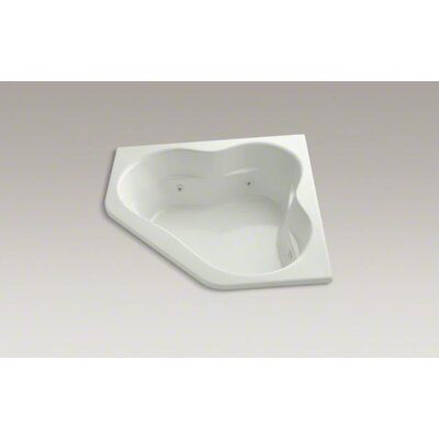 "Kohler Tercet 60"" X 60"" Drop-In Whirlpool Bath with Center Drain, Heater and Custom Pump Location"