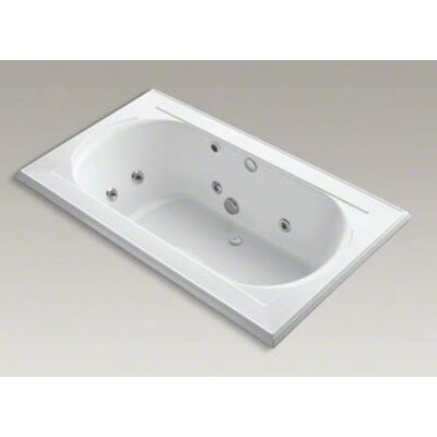 "Kohler Memoirs 72"" X 42"" Drop-In Whirlpool Bath with Reversible Drain, Heater and Custom Pump Location Without Jet Trim"