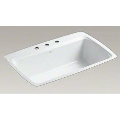 Kohler Cape Dory Tile-in Single-Bowl Kitchen Sink with 3 Faucet Holes