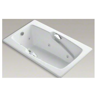 "Kohler Steeping Collection 60"" Drop In Jetted Whirlpool Bath Tub with Right Side Drain and Left Front Pump Placement"