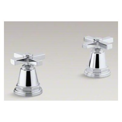 Kohler Pinstripe Pure Bath- Or Deck-Mount High-Flow Bath Valve Trim with Cross Handles, Handles Only, Valve Not Included