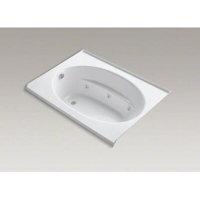 "Kohler Windward 60"" X 42"" Alcove Whirlpool Bath with Integral Tile Flange, Left-Hand Drain and Heater"