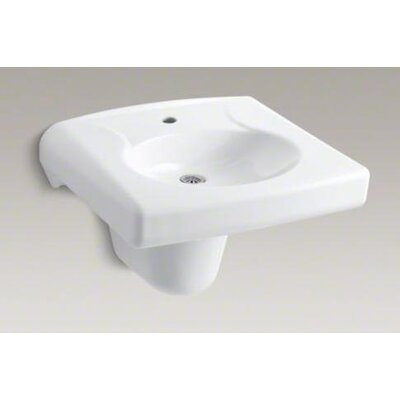 Brenham Wall-Mount Lavatory and Shroud with Single-Hole Drilling - 1999-1N