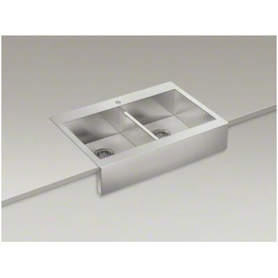 Top Mount Stainless Steel Farmhouse Sink : 24-5/16