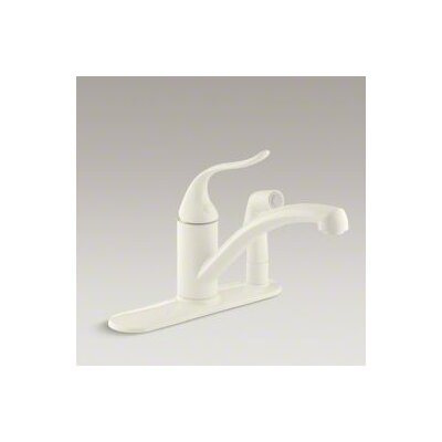 Coralais Decorator Kitchen Sink Faucet with Escutcheon and Lever Handle