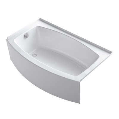 Expanse 60 Quot X 30 Quot Curved Three Wall Alcove Bath With Tile