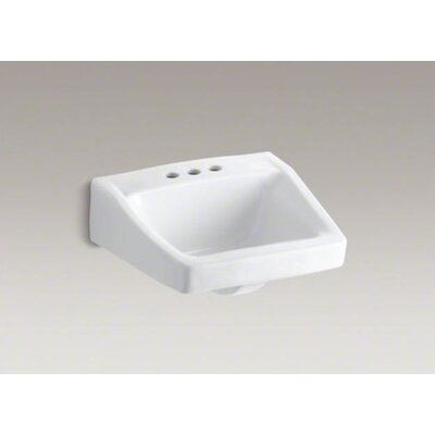 "Kohler Chesapeake 19-1/4"" X 17-1/4"" Wall-Mount/Concealed Arm Carrier Arm Bathroom Sink with 4"" Centers"