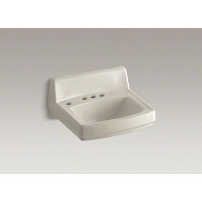 Greenwich Wall-Mounted Or Concealed Carrier Arm Mounted Commercial Bathroom Sink - K-2030-L-