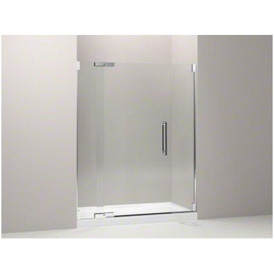 "Kohler Purist Pivot Shower Door, 72-1/4"" H X 57-1/4 - 59-3/4"" W, with 1/2"" Thick Crystal Clear Glass"