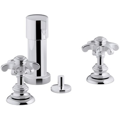 Artifacts Widespread Bidet Faucet with Prong Handles