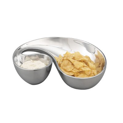 Nambe Morphik Chip and Dip Set