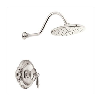 "Moen Waterhill 10"" Single Function Rainfall Posi-Temp Shower Head in Polished Nickel"