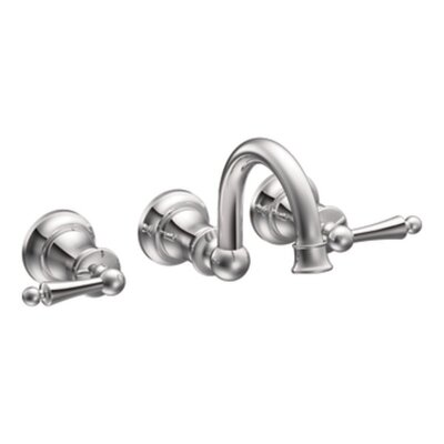 Moen Waterhill Two Handle Widespread Wall Mount Bathroom Faucet