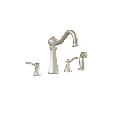Vestige Double Handle High Arc Kitchen Faucet