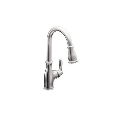 Moen Brantford Single Handle High Arc Pulldown Kitchen Faucet Reviews Wayfair