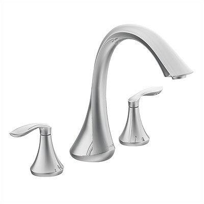 Moen Eva Double Handle Deck Mount Roman Tub Faucet Trim Lever Handle