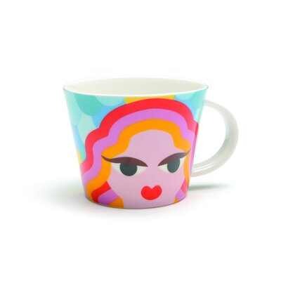 French Bull Virgo Porcelain Mug