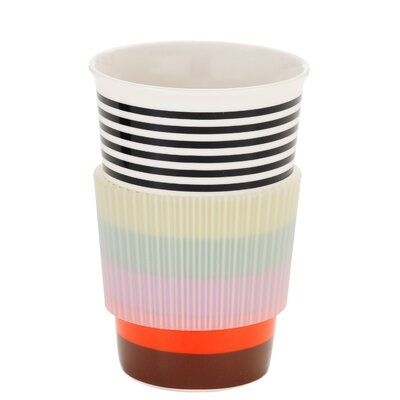French Bull Rainbow Stripe Travel Mug
